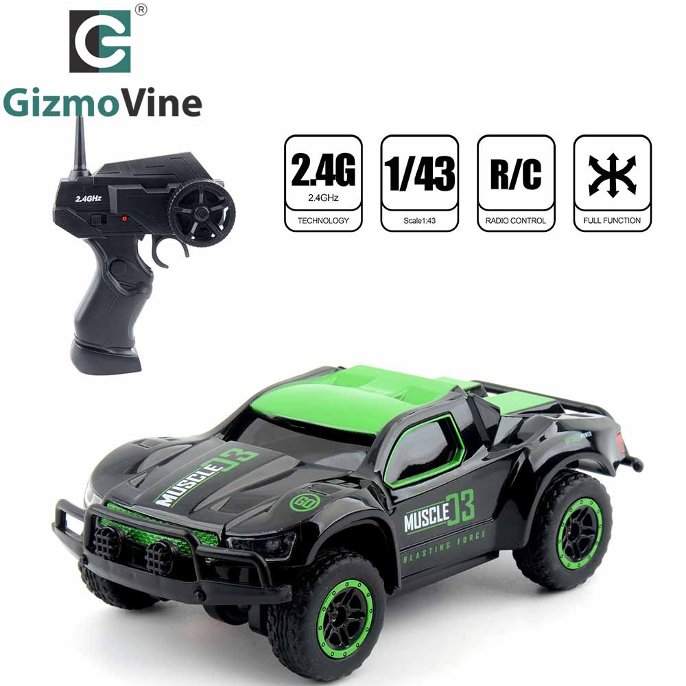 GizmoVine Remote Controlled Mini Car Toy 1:43 R/C High Speed 25 KM/H truck 4CH Remote control Toys for Kids Birthday