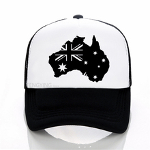 football Adult/ Children Australia Football Trucker Cap AUSTRALIA Flag Men Snapbacks Women Sun Hat Adjust Kids