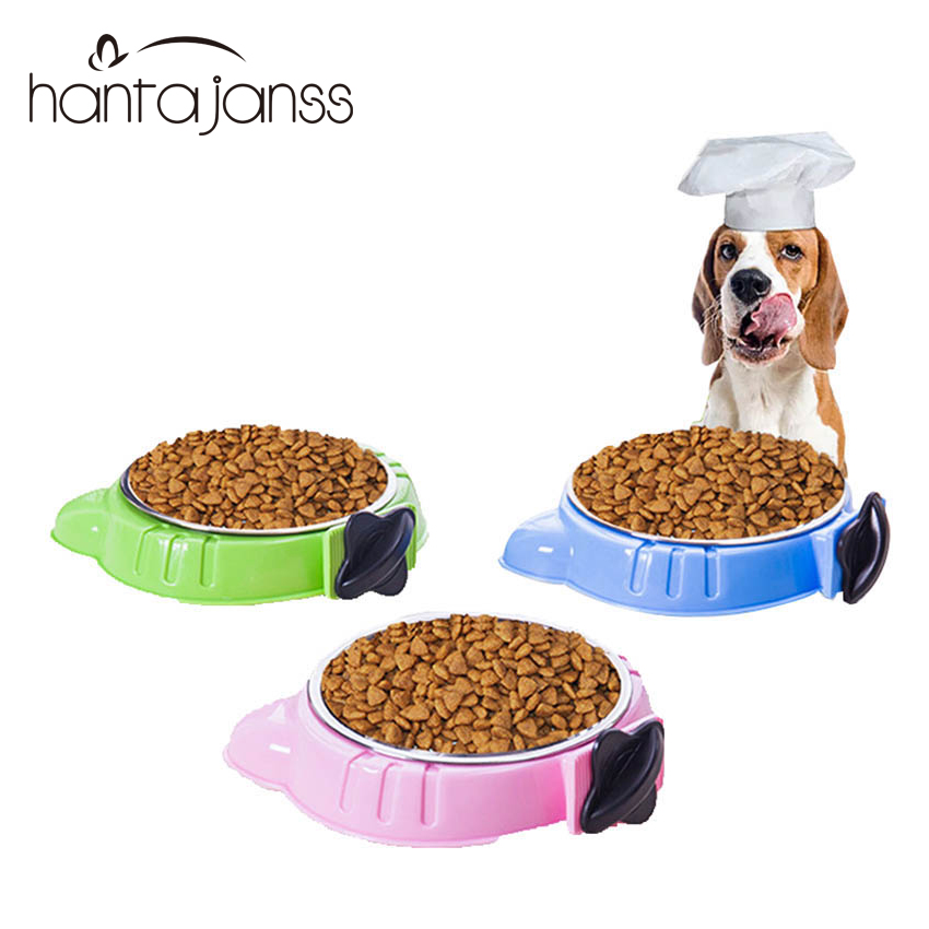 Dog Bowls Universal Dog Cat Bowls Stainless Steel Pet Bowls Cat Ears Shape Portable Carrier 2018 New Durable Pet Supplies