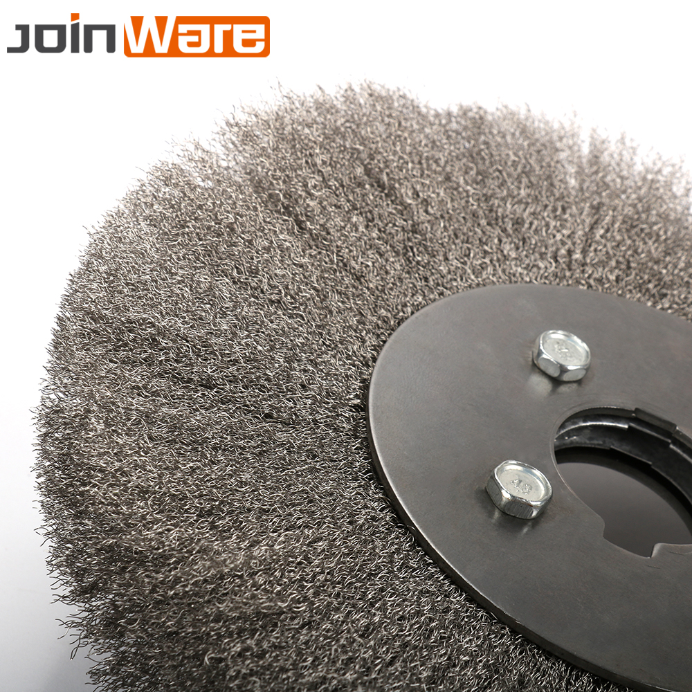 "4/""~10/"" Crimped Stainless Steel Wire Wheel Round Brush Abrasive Tool for Grinder"