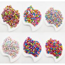 100szt lot 6mm Multi Colors błyszczące akrylowe okrągłe Koraliki do MAJSTERKOWICZÓW bransoletki amp naszyjniki Biżuteria makings akcesoria tanie tanio Moda Beads Round Shape a0187 SOBUY