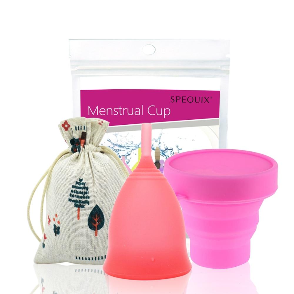 купить 1 PCS Menstrual Cup & 1 PCS Sterilizing Cup For Women's Periods Copa Menstrual De Silicona недорого