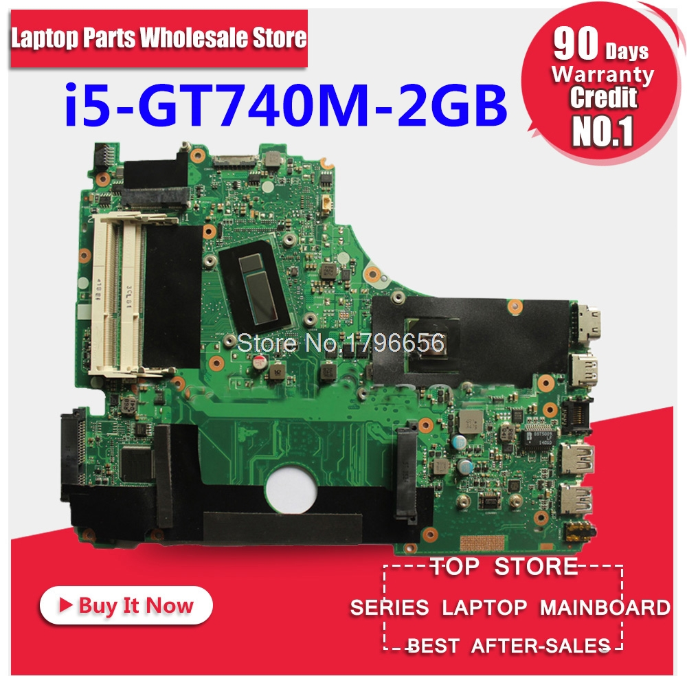X750LN motherboar with i5 CPU GeForce GT740M 2GB For ASUS X750LN X750L K750L Laptop motherboard X750LB Mainboard 100% test цена