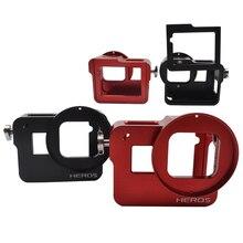 Gopro Hero 6/5 Acessórios CNC Aluminum Metal Case Protetora caso Da Habitação quadro + Lens Cap Tampa 52 MM Filtro UV Para GoPro 6/5