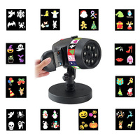 Star Projector Light +12 Full Color Slides for Xmas Halloween Holiday Party TB Sale
