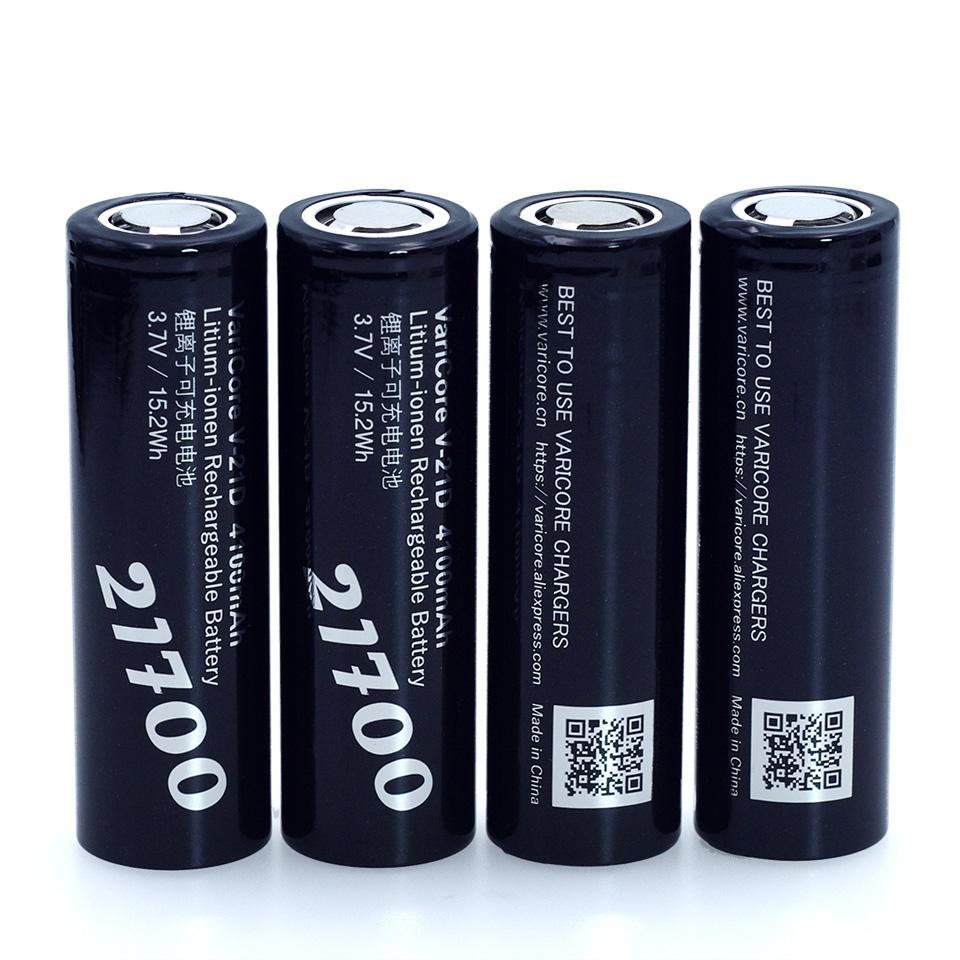 2019 VariCore 21700 Li-ion Battery 3.7V 4100mA V-21D Discharger 35A Power Battery Electronic Cigarette Battery E-tools Battery