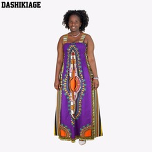 Dashikiage Womens Maxi Boho Floral Summer Beach Long Skirts Evening Cocktail Party Dress Sundress