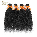Queen amor productos para el cabello belleza water wave virgen del indio del pelo 4 pcs Onda de Agua Del Pelo Indio Natural Del Pelo Humano Mojado y Ondulado onda
