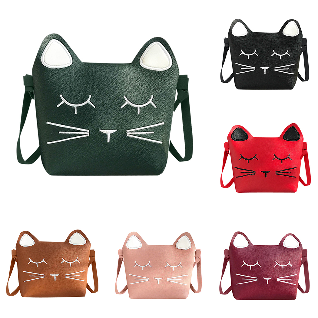 Children New Designed Handbags Mini Cute Cat Bag Girls Lovely Crossbody Shoulder Bag Kawaii Messenger Bag Kids Present Gift high quality new summer designers mini cute bag children cat handbag kids tote girls shoulder bag mini bag wholesale bolsas
