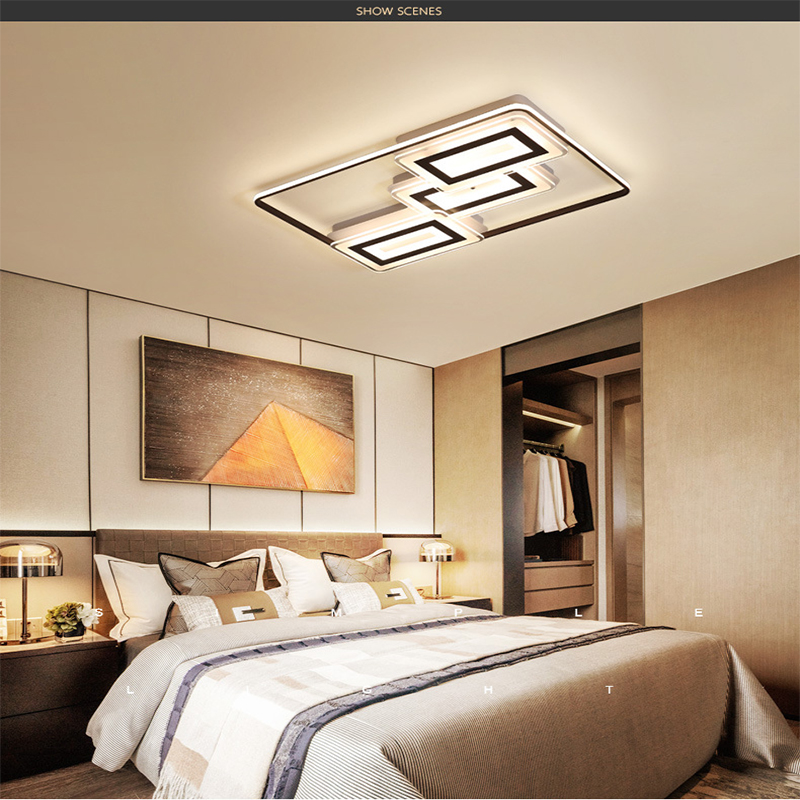 Pendant light square ultra-thin modern bedroom lighting fixtures ceiling  lamp Indoor Lighting RC Dimmable Pendant light
