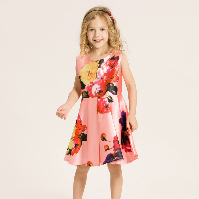 Baby Girl Princess Dress 3-8 Years Kids Sleeveless Autumn & Winter Dresses for Toddler Girl Children Sequined Fashion Clothing q3969 60002 printer mother board for hp 1022n printer part formatter board quality assured in china supplier