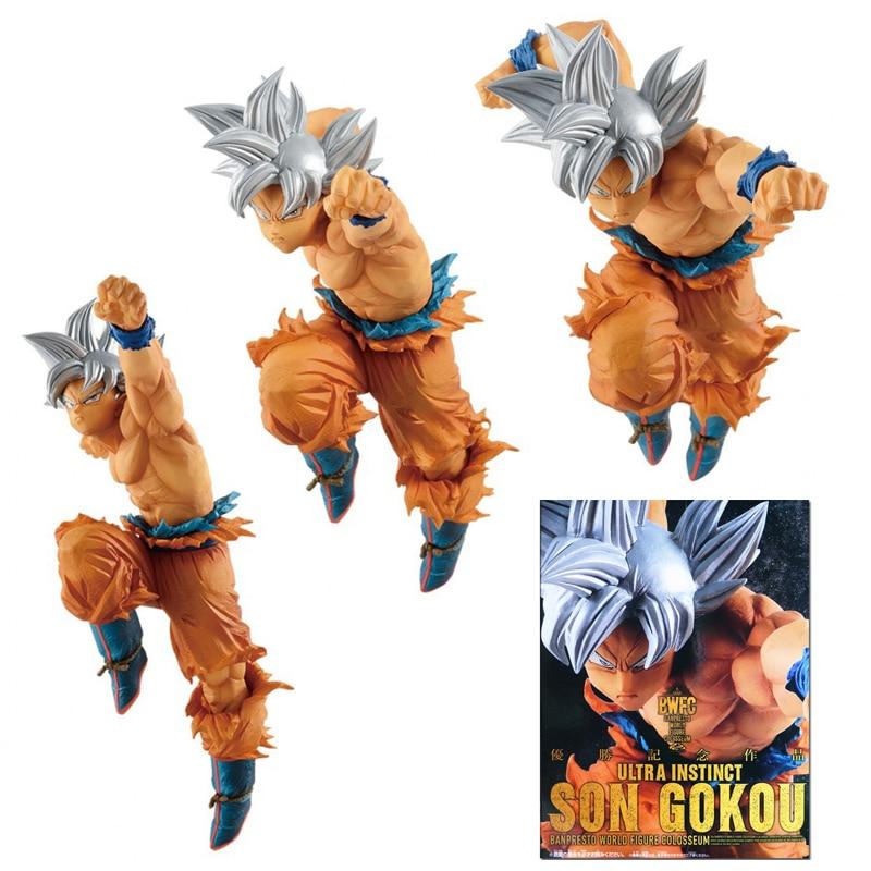 100% Original Dragon Ball Super BWFC Ultra Instinct Jiren Goku 15cm PVC Action Figure Model Collection Toy Gashapon toys