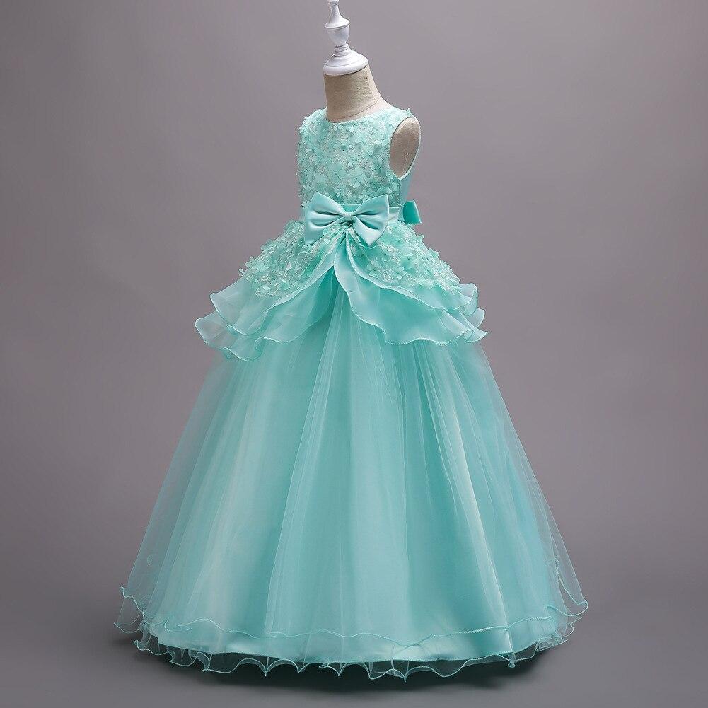 Children Performance Clothes Princess Flowers Formal Kids Pregnant ...