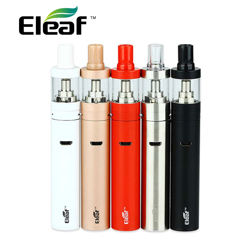 Original Eleaf IJust Start Plus Kit 1600mah Battery 2.5ml Ijust Atomizer 0.75ohm GS AIR Coil E Cig Vs IJUST 2 Vs Ijust S Kit