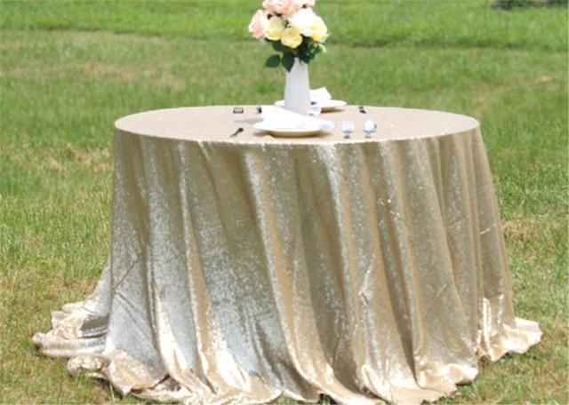 aliexpress: acheter table ronde mat or sequin rond de tableau