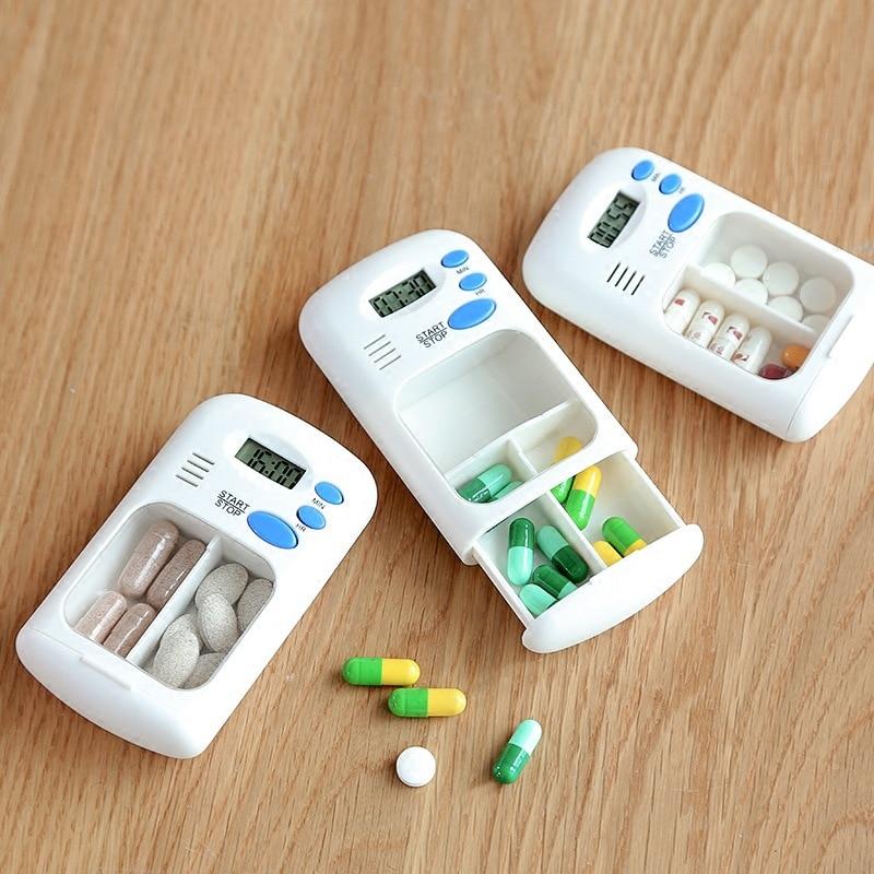 Closeout DealsOrganizer Alarm-Clock Pill-Reminder First-Aid-Kit Electronic-Box Led-Display Mini Portable
