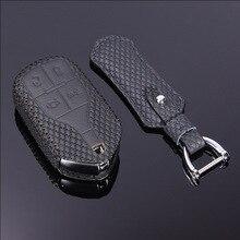купить Car key case for maserati ghibli 2017 2013 2014 quattroporte 2015 2017 levante 2016 leather key cover holder top layer KEY3 дешево