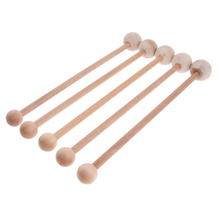 5 Pcs Portable Wooden Body Massage Hammer Sticks Relieve Shoulder Back Arms Legs Pain