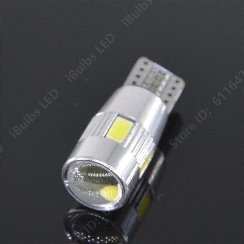 T10 Bombillas de coche LED ERROR FREE CANBUS W5W 501 Luz lateral Lámpara De Vidrio Rojo//Blanco//Rosa