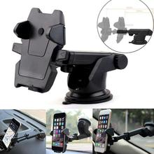 360 Rotation Holder for Phone in Car Auto Long Lever Windshield Suction Cup Stand Support Mount Bracket Mobile GPS Navigator