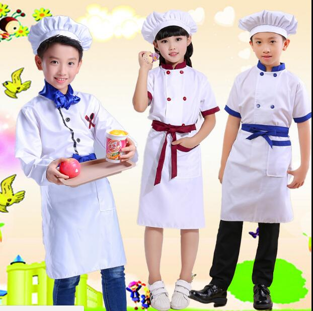 children Kindergarten game cosplay costume School Game Costume kids chef uniform child kitchen Cooking wear Clothing
