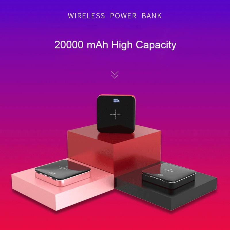 2018 QI batterie externe sans fil 20000 mah double USB sortie poche Portable batterie pour iPhone xs max samsung s8 s9