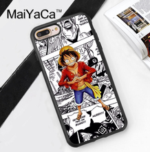 Anime Manga One Piece Design Soft Rubber Phone Case Coque For iPhone 6 6S Plus 7 7 Plus 5 5S 5C SE 4 4S Back Cover Skin Shell