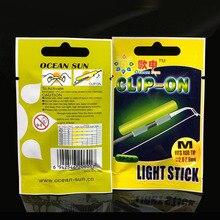 Clip On!20Pcs(10bags) Night Fishing Glow Stick M 2.0-2.6mm Green Fluorescence Chemical Night Light Luminous Glow Sticks