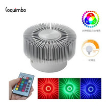 Coquimbo Aluminum Flush Mounted Ceiling Light With Remote Control RGB Smart LED AC 85-265v 3w Dimmable Light For Living Room