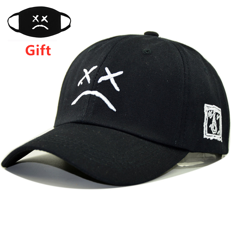 Mask as Gift Lil Peep   baseball     cap   men women hip hop Rapper Bboy DJ dancer letter embroidered sun   cap   dad hat