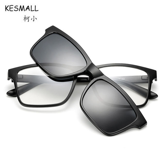KESMALL Brand Design Glasses Frame Magnetic Clip On Sunglasses Men ...
