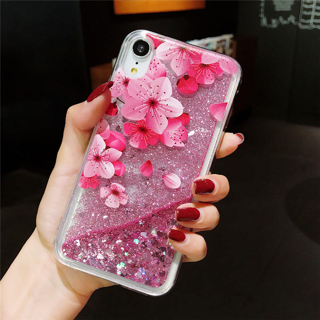 Liquid Quicksand Glitter Case For iPhone XS MAX XR X SE 5S 5 S Silicone Back Phone Cover Case For iPhone 7 8 6 S 6S Plus Cases