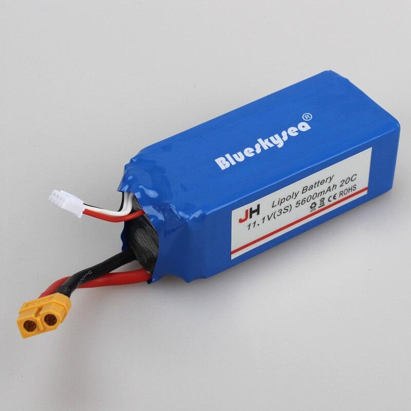 ФОТО Blueskysea Rechargeable 11.1V 5600mAh Battery Parts Accs For Cheerson CX-20 CX20 RC Quad