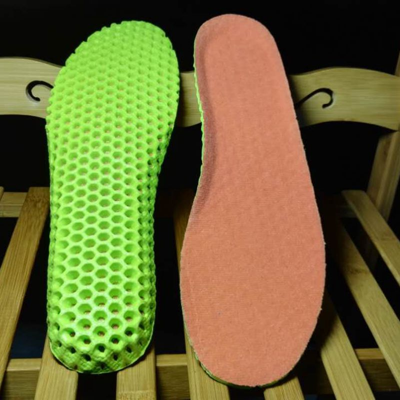 JINBEILE Stretch Breathable Deodorant Shoes Running Cushion Insoles Pad Insert 35-44