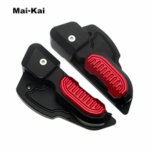 цена на MAIKAI For Vespa Prima 125 150 Sprint 125 150 3vie Foot Rests Passenger Extensions Extended Footpegs Adapter