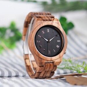 Image 2 - BOBO BIRD relojes para hombre, cronógrafos de pulsera de cuarzo, de madera de cebra, para regalo, V M30