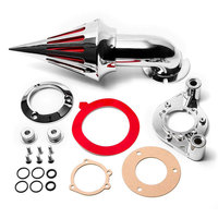 For 91 06 Harley Davidson Sportster XL 883 1200 Spike Cone Air Cleaner Intake Filter Kit Motorcycle Accessories Parts 1991 2006