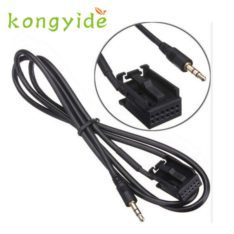 Car-styling For ford aux cable mondeo mk3 Car 3.5mm AUX in cable for Ford Fiesta Mondeo MK3 Focus MK2 S-MAX PUMA