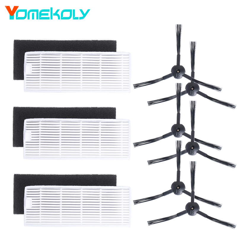 Sweeping Robot Accessories Kit for Ecovacs Vacuum Cleaner CEN550 CEN663 CEN661 CEN665 for Ilife A6 A4 A4S side Brush Hepa Filter цена