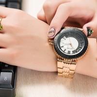 2018 Fashion GUOU Watch Women Top Brand Luxury Rose Gold Clock Simple Girl Female Quartz watch Ladies Wristwatch Reloj Mujer