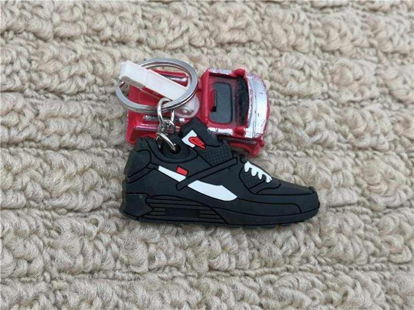 New Fashion Mini Silicone Crianças Sapatos Bonitos Keychain Charme da Mulher Titular Acessórios Pingente Chaveiro Presentes Chave Anel Chave Da Sapatilha