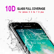 10D Tempered Glass For iPhone 6s 6 7 8 Curved Edge Full Cover Screen Protector On the S X Plus film