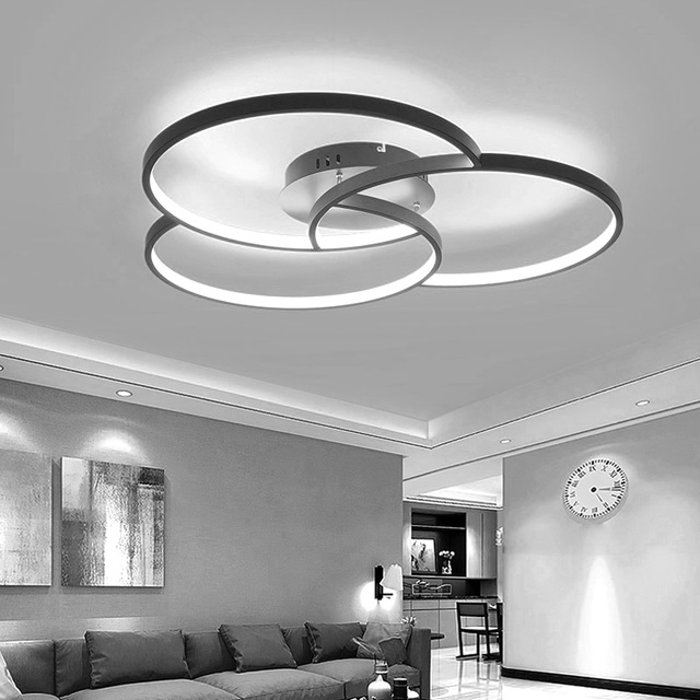 BWART modern led chandelier for living room bedroom aluminum body remote control home chandelier lighting lamp fixture ZX8025