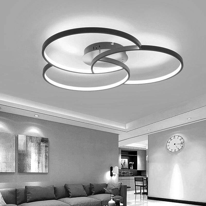 Lustre led moderne pour salon chambre corps en aluminium télécommande maison lustre luminaire ZX8025