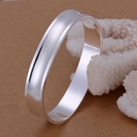 silver fashion jewelry 925 jewelry silver plated bangle bracelet Square Round Bangle /TDRDAPZL NKYHERHW