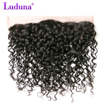 Luduna Brazilian Water Wave 13 4 Ear To Ear Lace Frontal Closure Non remy Hair Weave