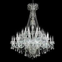 Modern 60 arms XL large pendant crystal chandelier led Lustre De Plafond for Hotel hall church big chandelier E14 led hang lamps