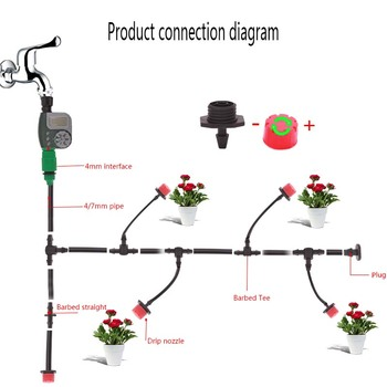 35M 30M 25M Automatic Watering Timer Garden DIY Micro Drip Irrigation System Plant Self Garden Hose Kits Adjustable Dripper 1