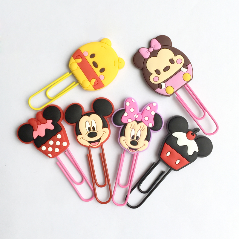 1PC Kawaii Mouse Paper Clip Bookmarks Book Marker Of Page School Office Supply Student Stationery
