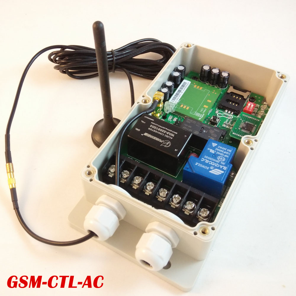 Two Relay Output GSM Remote Control Switch Box (GSM-CTL-AC)